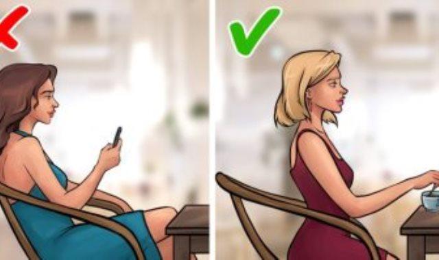 طريقة الجلوس على الكرسى