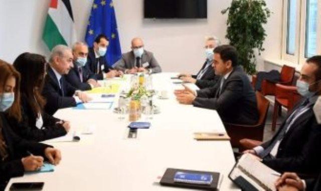رئيس وزراء فلسطين يلتقى رئيس البرلمان الأوروبى