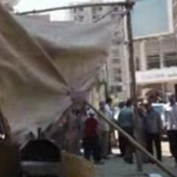 رفع الإشغالات وإزالة التعديات على الأرصفة وحرم الطرق بالفيوم