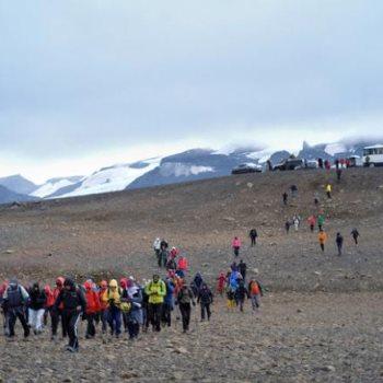 صورة أرشيفية أيسلندا تكشف عن لوحة تذكارية لنهر أوكيوكول المندثر