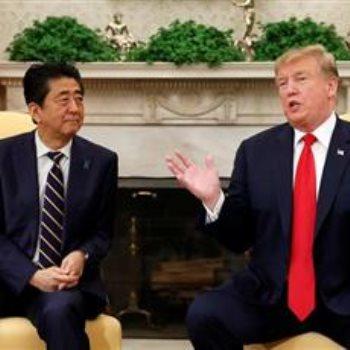 الرئيس الأمريكي يلتقى رئيس وزراء اليابان