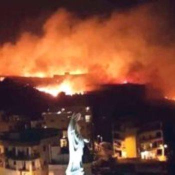 الحرائق التى إجتاحت لبنان