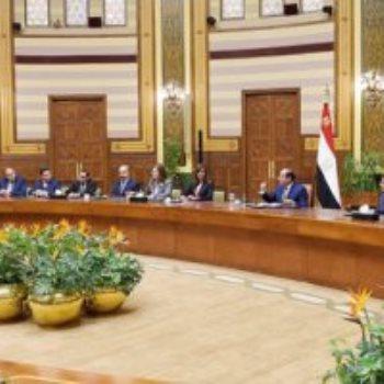 اجتماع السيسى مع وفدا من المستثمرين المصريين بالخارج