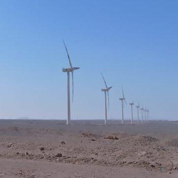 أكبر محطة رياح فى العالم بمنطقة جبل الزيت بالبحر الأحمر