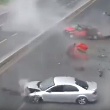 آثار الحادث