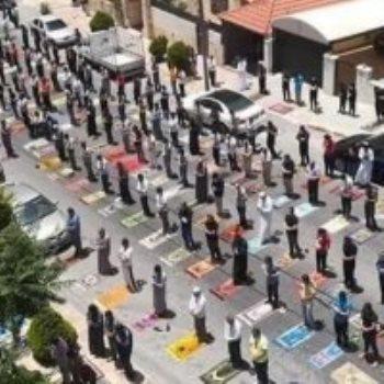 صلاة الجمعة فى الأردن وفق قواعد التباعد الاجتماعى