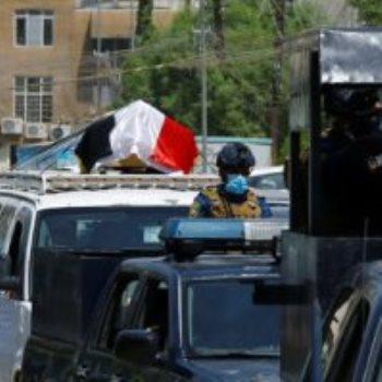 جنازة هشام الهاشمى فى بغداد