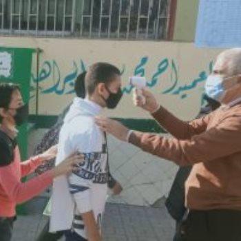 دخل طلاب الشهادة الإعدادية لجان الامتحانات