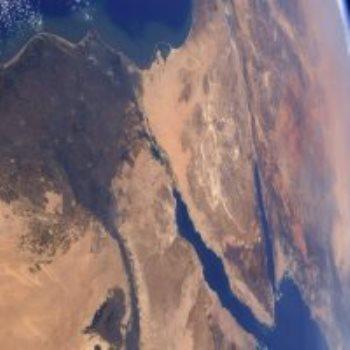 نهر النيل والدلتا من الفضاء
