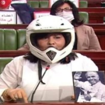 رئيس الحزب الدستورى الحر فى تونس عبير موسى
