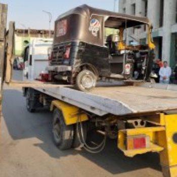 حظر سير التوك توك بمحور أنور السادات بعد غلق شارع الهرم