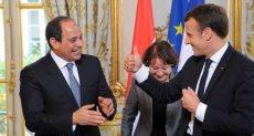 الريس السيسي مع الرئيس الفرنسي إيمانويل ماكرون