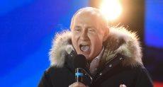فلاديمير بوتين خلال الاحتفالات بإعادة انتخابه