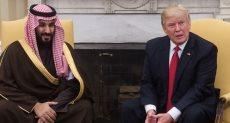 ترامب مع ولي العهد السعودي في لقاء سابق بالبيت الأبيض - أرشيفية