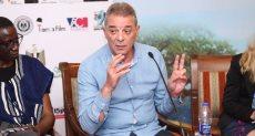 محمود حميدة أثناء مهرجان الاقصر للسينما الافريقية