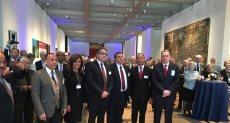 وزير الآثار خلال افتتاح معرض الآثار الغارقة في الولايات المتحدة