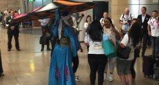 استقبال وفد الشرطة الأمريكية بمطار القاهرة