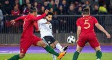 محمد صلاح في مباراة مصر والبرتغال