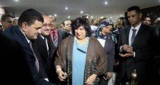 وزيرة الثقافة إيناس عبد الدايم تفتتح قاعات جديدة بدار الكتب والوثائق