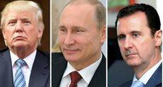 ترامب وبوتين والأسد