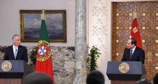 مؤتمر الرئيس عبد الفتاح السيسي ونظيره البرتغالي