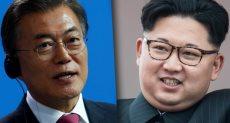 مون جيه-إن رئيس كوريا الجنوبية و كيم جونج أون زعيم كوريا الشمالية