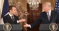 الرئيس الأمريكى دونالد ترامب - إيمانويل ماكرون