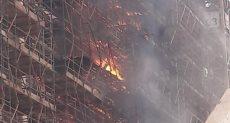 حريق سقالات المتحف الكبير بالهرم