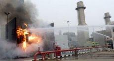 حريق مستشفى الصدر بالعباسية