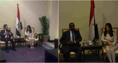 لقاء وزيرة السياحة رانيا المشاط مع وزيرا السياحة السوداني والسوري