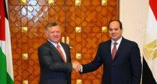 الرئيس السيسى يستقبل العاهل الأردنى