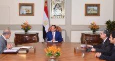 الرئيس السيسى ورئيس الوزراء ووزير الكهرباء
