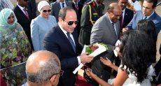 استقبال الرئيس السيسى بالخرطوم