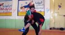 تدريب فريق المصارعة النسائى في العراق