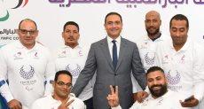 أحمد البحيري يتوسط أبطال مصر للألعاب البارالمبية