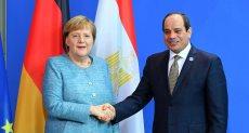 الرئيس عبد الفتاح السيسى والمستشارة الألمانية انجيلا ميركل