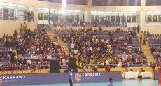 الجمهور المصرى يساند منتخب الطائرة