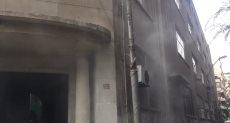 حريق بالمبنى اليونانى التابع للجامعة الأمريكية