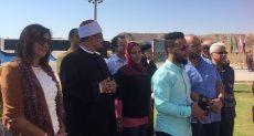 وزيرة الهجرة تزور مسجد الصحابة وكنيسة القديسين بشرم الشيخ