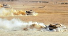 جانب من تدريبات القوات المشاركة فى درع العرب 1