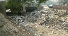 القمامة منتشرة بمجرى السيل