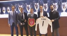 وفد الاهلى فى ريال مدريد