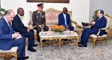 جانب من لقاء الرئيس السيسى ورئيس جمهورية غينيا