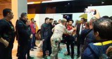 وصول لاعبى منتخب مصر لملعب برج العرب