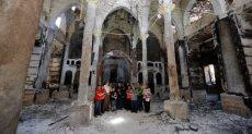 كنيسة محترقة على يد الإخوان