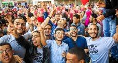 جانب من احتفالات طلاب طب جامعة أسيوط