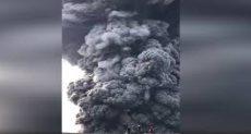 لحظة ثوران بركان إيبيكو فى روسيا