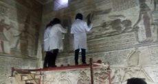 اعمال الترميم بمعبد الأبت