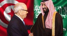 ولى العهد السعودى والرئيس التونسى