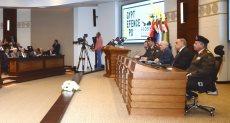 جانب من المؤتمر الصحفى لفعاليات المعرض الدولى للصناعات الدفاعية والعسكرية